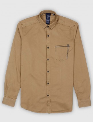 Killer solid khaki casual wear shirt