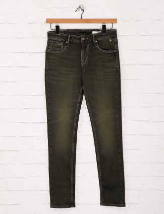 Killer solid olive mens skinny fit jeans