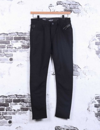 Kozzak solid black denim jeans