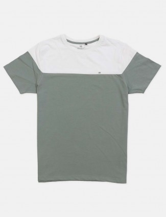 Kuch Kuch olive and white cotton t-shirt