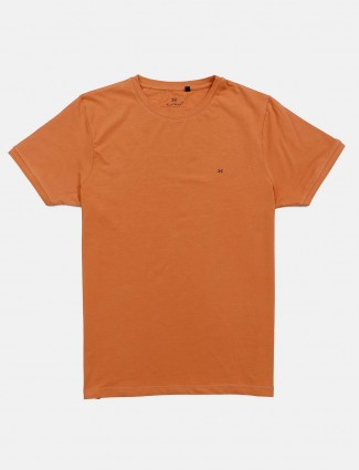 Kuch Kuch slim fit orange cotton t-shirt