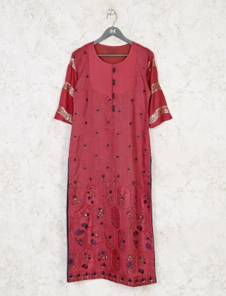 Latest festive wear kurti in maroon