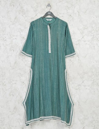 Latest green cotton casual kurti