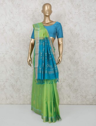 Latest pure south silk parrot green saree for weddings