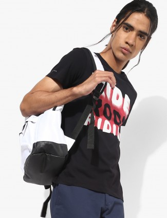 Lee black color casual printed t-shirt