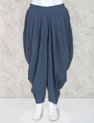 Leo N Babes grey color girls dhoti in cotton