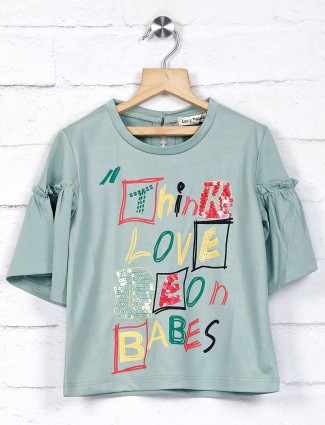Leo N Babes printed green casual top