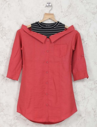 Leo N Babes red casual top in cotton