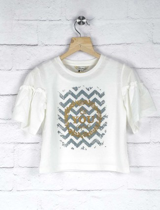 Leo N Babes white hue casual wear top in cotton