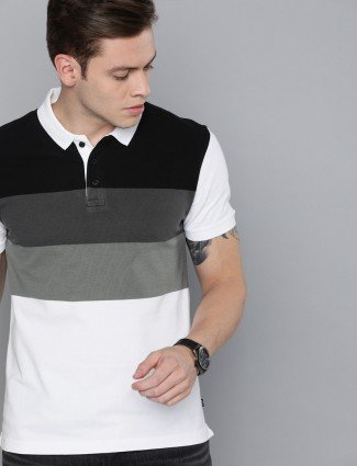 Levis black and white stripe casual t-shirt