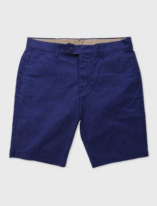 Levis blue cotton casual wear shorts