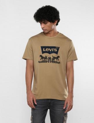 Levis brown slim fit printed t-shirt