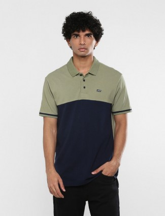Levis olive and navy solid mens t-shirt
