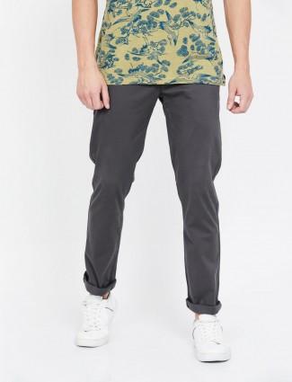 Levis solid dark grey slim taper fit trouser