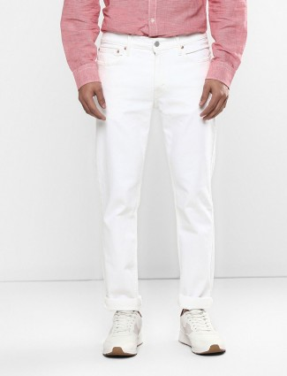 Levis solid white 511 slim fit jeans