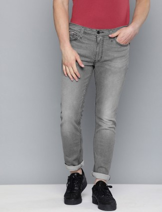 Levis washed grey 511 slim fit jeans