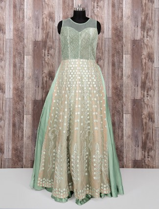 Light green color gown for woman