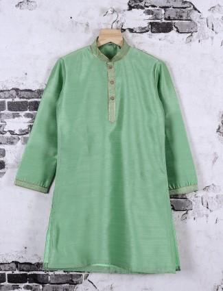 Light green color kurta suit for festive wear