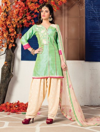 Light green color punjabi suit