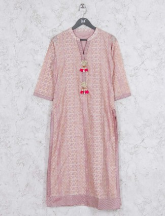 Light pink kurti in cotton