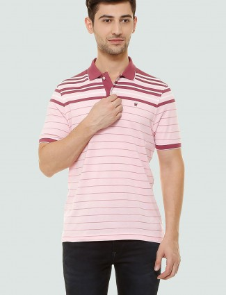 Louis Philippe pink stripe t-shirt