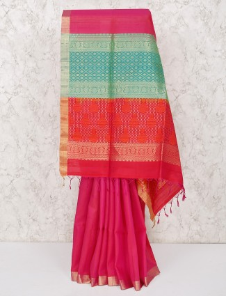 Lovely magenta south silk saree
