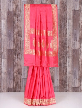 Lovely MP silk pink saree