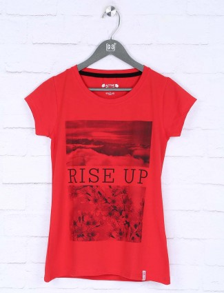 Lovely red color casual top