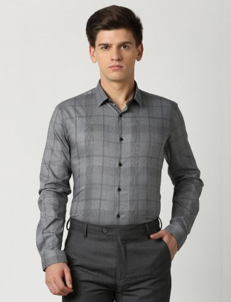 LP grey hue checks mens shirt
