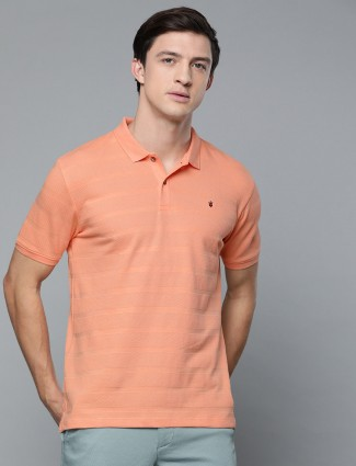LP peach solid cotton t-shirt