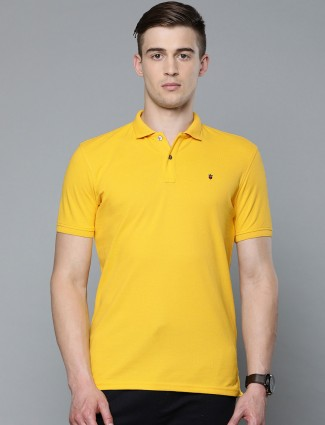 LP solid yellow cotton t-shirt