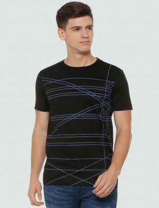 LP Sport black printed cotton t-shirt