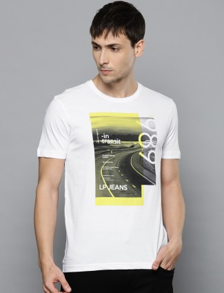 LP Sport white printed t-shirt