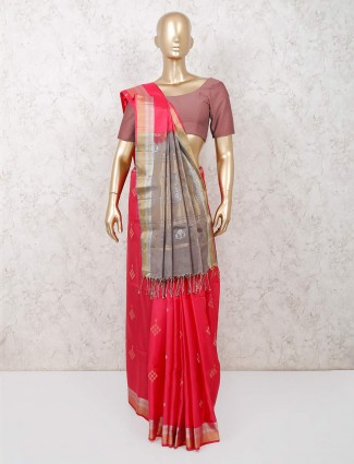 Magenta south pure silk saree