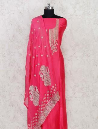 Mahenta cotton silk dress material