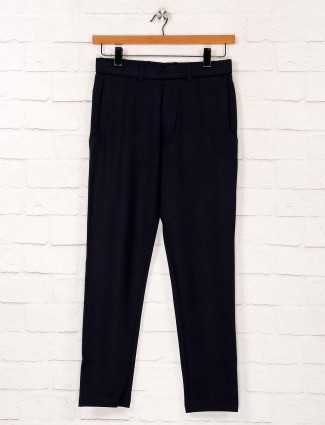 Maml navy night wear solid track pant