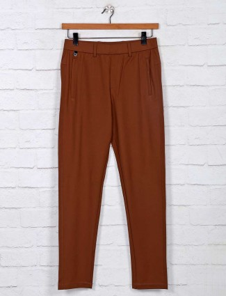Maml simple brown cotton track pant