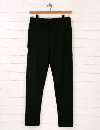 Maml solid green color track pant