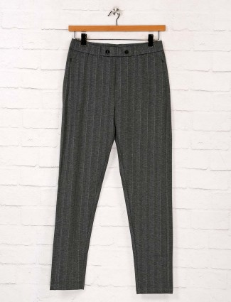 Maml solid grey cotton track pant
