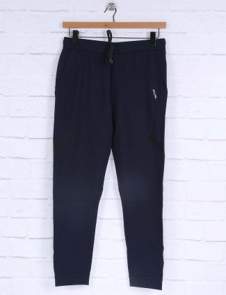 Maml solid navy hued track pant