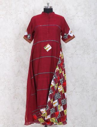 Maroon color designer kurti for festive