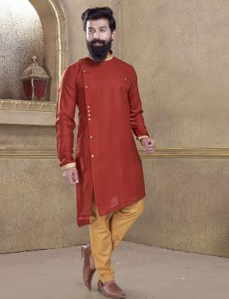 Maroon color simple kurta suit