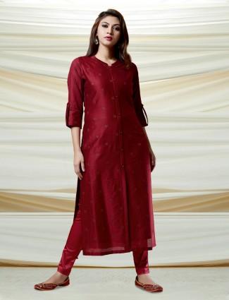 Maroon hue beautiful kurti