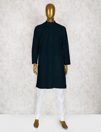 Mens navy cotton kurta suit