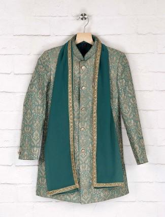 Mint green silk designer indo westerm