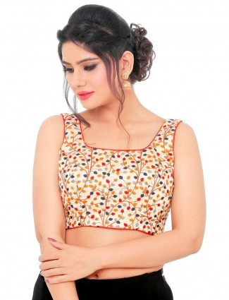 Multi color readymade blouse in cotton silk