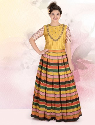 Multicolor lehnga choli for wedding function