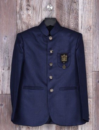 Navy color solid party wear blazer
