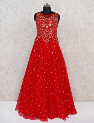 Net red designer party wear gown