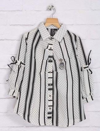 Nodoubt white and black cotton top